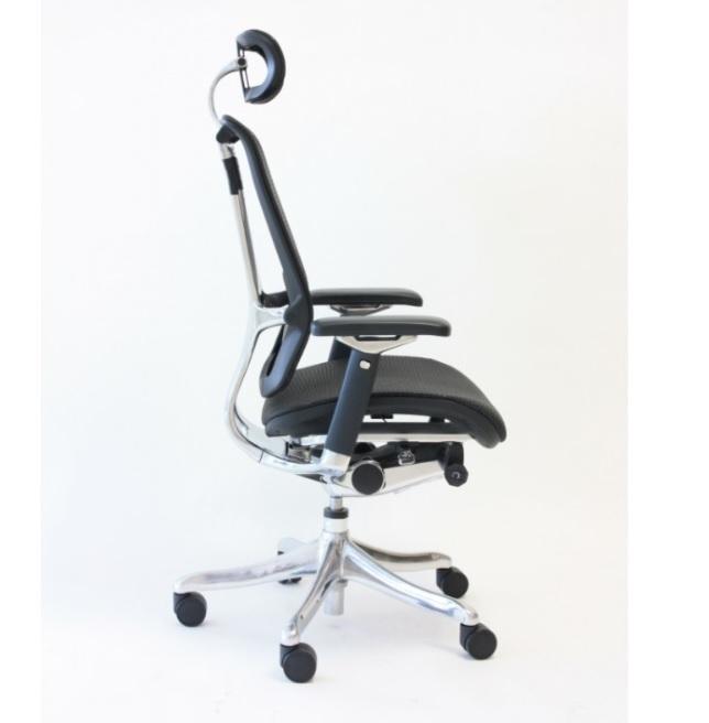 Nefil kontorstol 5 netting sort krom kontor & interiør as